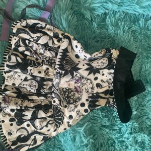 clearance black and white theater dress