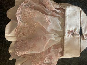 clearance pink satin dress