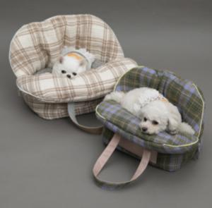 Linenaround Dog Bag in Plaid