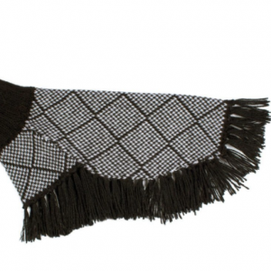 alpaca diamond poncho