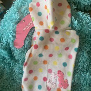 clearance pinkaholic polka dot fleece