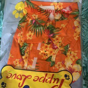 clearance orange hawaiian dog shirt