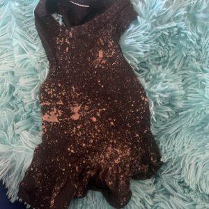 clearance black tank flounce dress