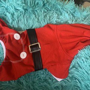 clearance santa dog pajamas