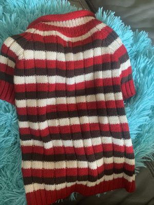 clearance striped dog sweater