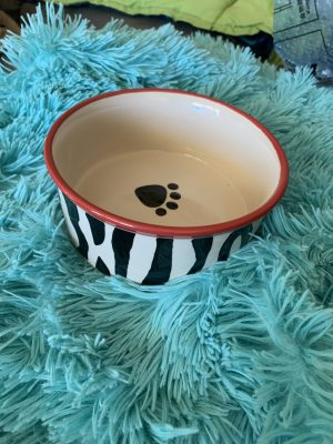 clearance zebra round dining bowl