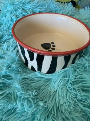 clearance zebra round dinner bowl