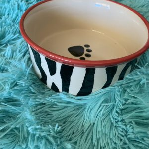 clearance zebra round dinner bowl