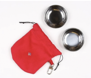 travel pouch with 2 bowls