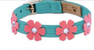 pretty petunia dog collar