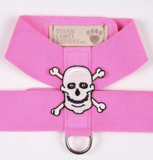 embroidered skulls tinkie dog harness