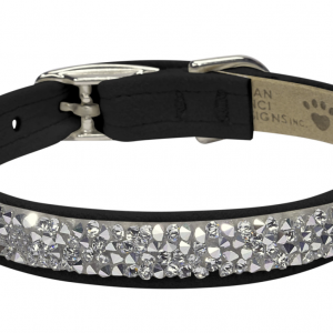 crystal rocks dog collar