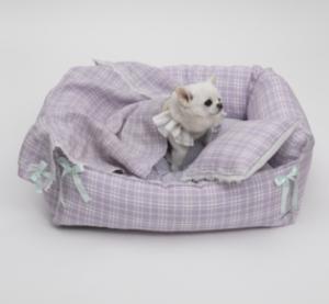 lavender boom dog bed
