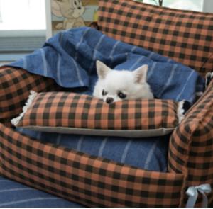baguette dog pillow
