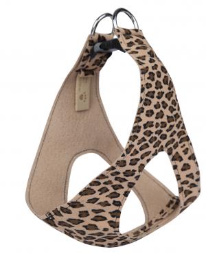 jungle print plain step in dog harness