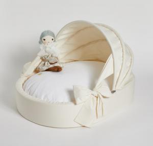ecru cradle dog bed