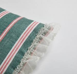 linen stripes dog rug