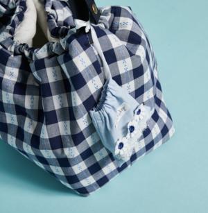 checkerboard sling dog bag