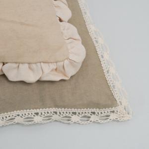 flat white oblique dog rug