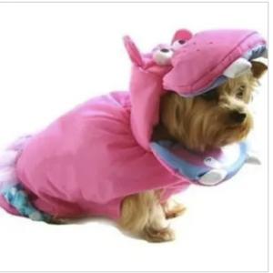 pink hippo dog costume