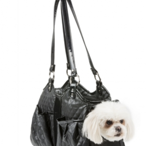metro black quilted luxe dog carrier