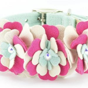 blossom flower dog collar