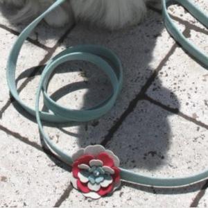 blossom flower dog leash