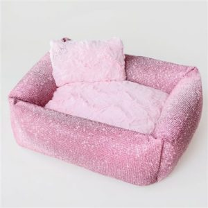 luxurious crystal bed in pink by hello doggie